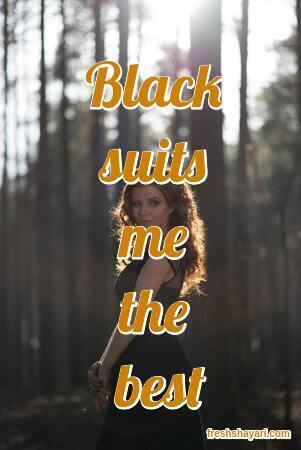 Black Dress Captions